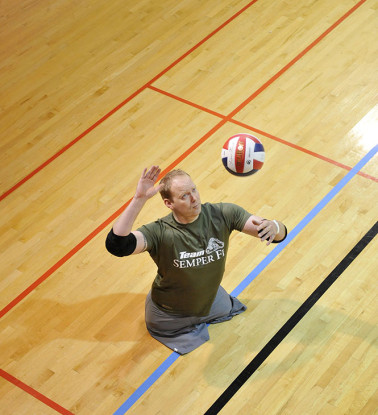 'Wounded Warriors' Compete in Volleyball at the Pentagon
