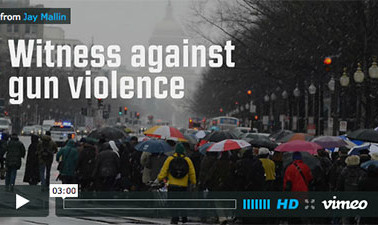 Witness against gun violence - video