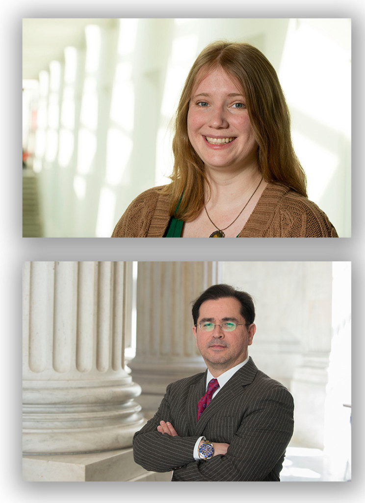Melissa Rogers, supervising producer at Stone Soup Films, and Pablo Carrillo, chief of staff for Arizona's Sen. John McCain.