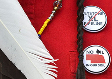 Cowboy and Indian Alliance Protests Keystone XL Pipeline