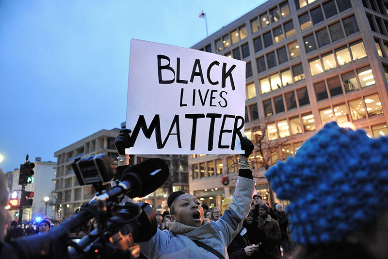 Protests Over Ferguson and New York in Washington, DC