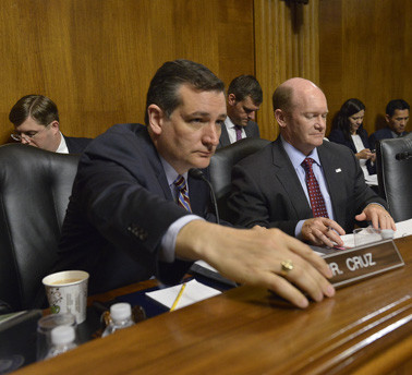 "Sen. TED CRUZ, R-TX, chairs a hearing of the U.S. Senate Judiciary subcommittee on Oversight, Agency Action, Federal Rights and Federal Courts into ""judicial activism"" by the Supreme Court."