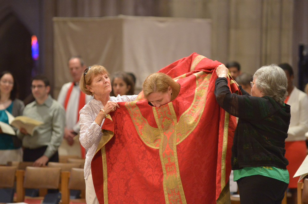 The ordination of Mary Miller Flowers and Patricia Mary Lyons by the Right Rev. Mariann Budde at Washington National Cathedral on Saturday, June 11, 2016 in Washington, DC.  Photo:  Jay Mallin   jay@jaymallinphotos.com