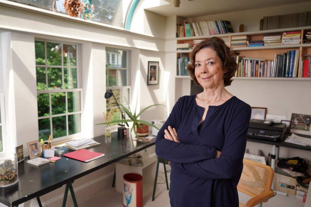Author Kate Blackwell at her home in Georgetown, in Washington, DC.  Photo:  Jay Mallin