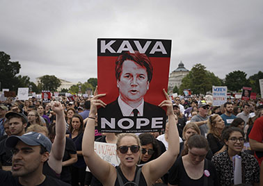 Hundreds of protesters flooded the front of the U.S. Capital and Supreme Court as the U.S. Senate voted to confirm Judge Brett Kavanaugh to a seat on the U.S. Supreme Court. Police arrested dozens during the protests. Photo:  Jay Mallin    jay@jaymallinphotos.com